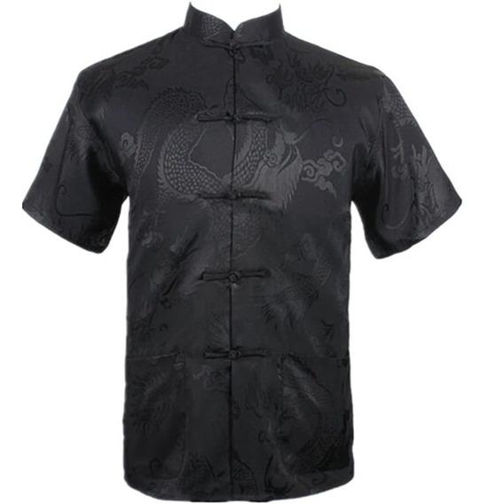 Blusa Oriental Masculina Estampa De Dragão