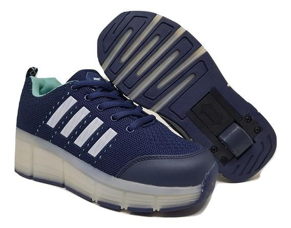 Zapatillas Con Rueda Rosa,negro,azul Envios