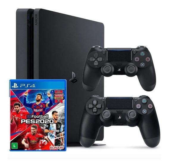 Ps4 Playstation 4 1tb+2 Controles+pes 20 Em Campinas Sp + Nf