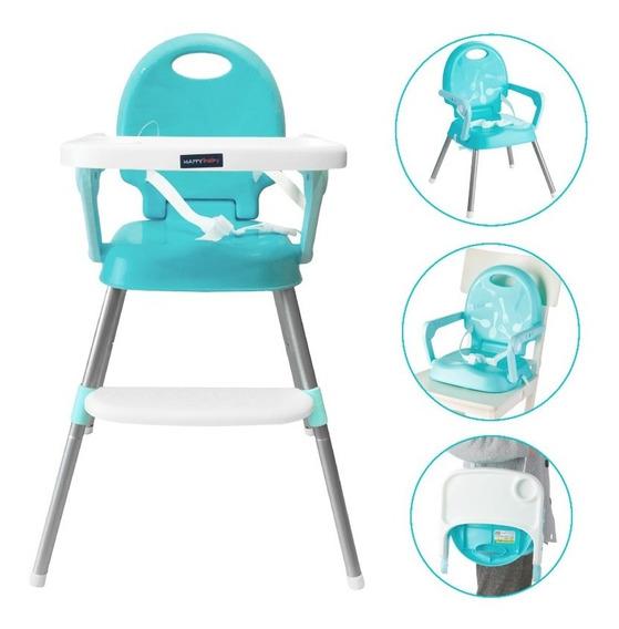 Silla Comedor Bebe 3en1 Happy Baby Azul Cp7000