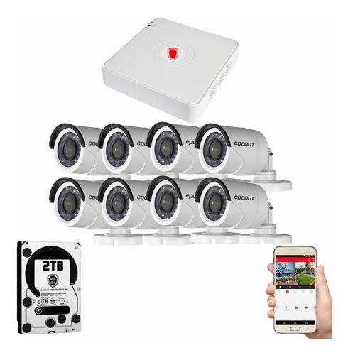 Kit Cctv Circuito Cerrado 8 Camaras Vigilancia Epcom Bwh 2tb