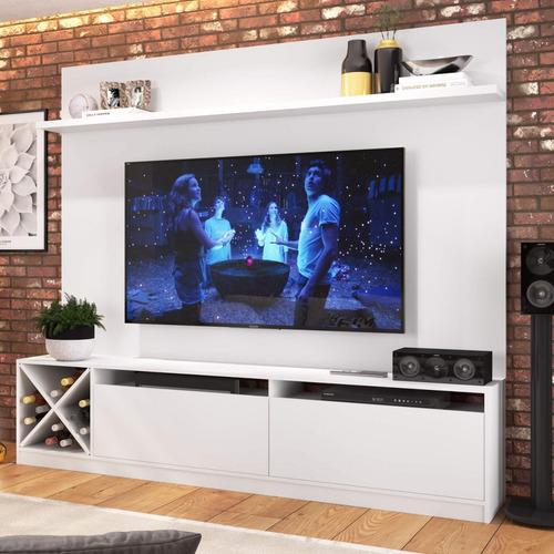 Imagem 1 de 5 de Estante Home Para Tv Até 50 Polegadas 2 Portas Adega Hg