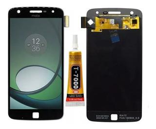 Tela Touch Display Lcd Motorola Moto Z Play Xt1635-02 + Cola