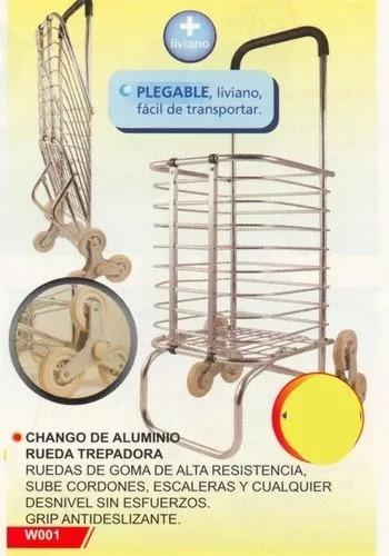 558e32e5e02980 Chango Changuito Carro De Compras Aluminio 3 Ruedas Trepador - $ 1.593,90  en Mercado Libre