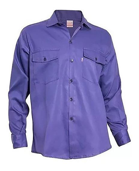 Camisa De Trabajo Grafa 70 Azul/azulina/beige/verde/blanca