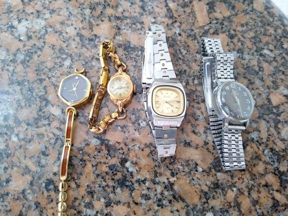 Relógios Antigos Para Conserto Ou Coleçionadores 4 Unidades