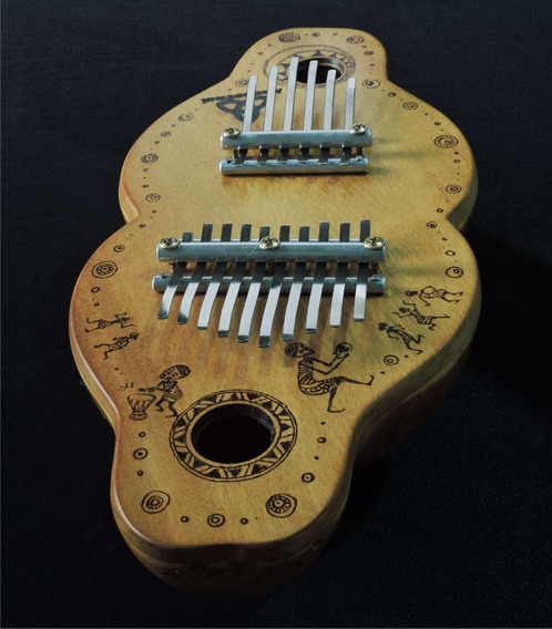 Kalimba Ancestral Dupla Para Musicoterapia - Profissional