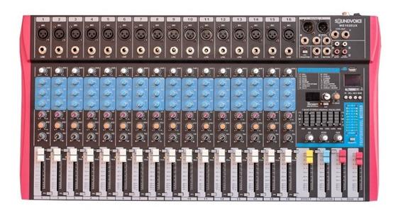 Mesa De Som 16 Canais Soundvoice Ms162 Eux
