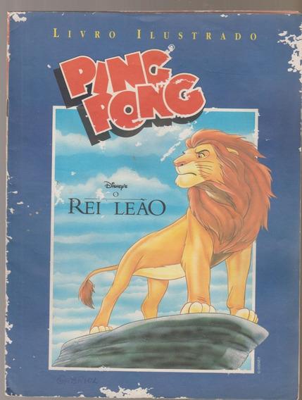 Álbum Figurinhas Rei Leão Ping Pong 1996 Com 51 Figurinhas