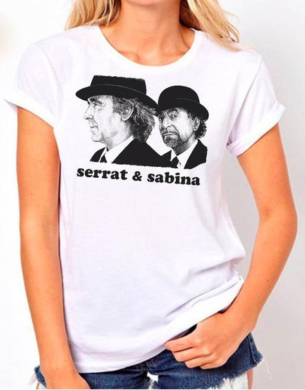 Remera Serrat Sabina, Algodon Premiun (mujer - Hombre)