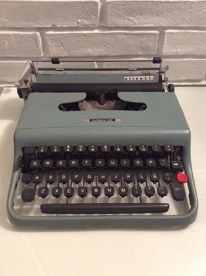 Maquin De Escribir Olivetti Lettera 22 Con Estuche Perfecta