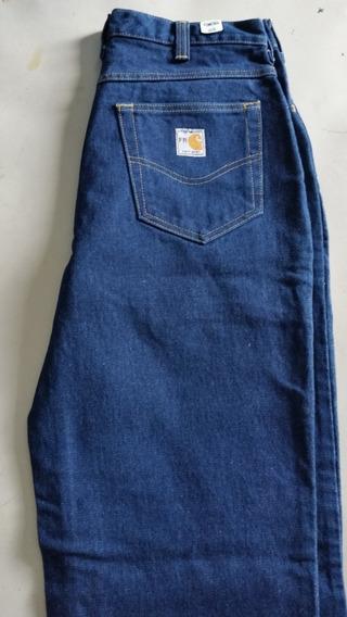 Pantalon Carhartt, Talla 32 Azul Marino, Nuevo Original.