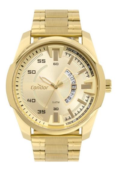 Relogio Condor Co2115kwv/4x Dourado Grande Pesado Ostentação