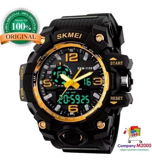 Relógio Masculino Skimei 1155 Original Digital Prova D´água