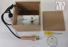 Pirógrafo Eletrônico Para Gravação Madeira Couro 110 V