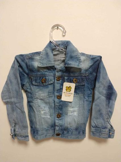 4 Jaquetas Jeans Infantil De 1 A 8 Anos
