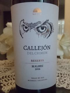 Vino Callejon Del Crimen Reserva Malbec