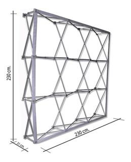 Stand Muro Araña Con Velcro 2.30x2.30, Dos Caras