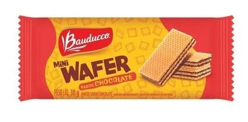 Imagem 1 de 1 de Biscoito Mini Wafer De Chocolate Bauducco 30g