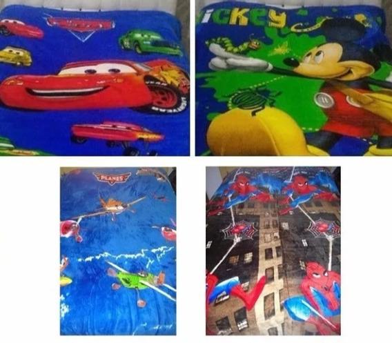 Manta Cobertor Infantil Personagens Herois E Princesa