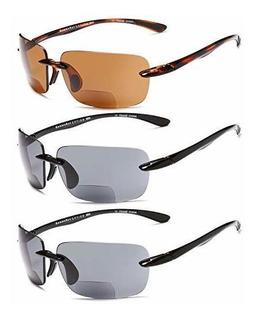 Rayos Gamma Bifocal Gafas Sol Reader - 3 Pares Sol Deporte
