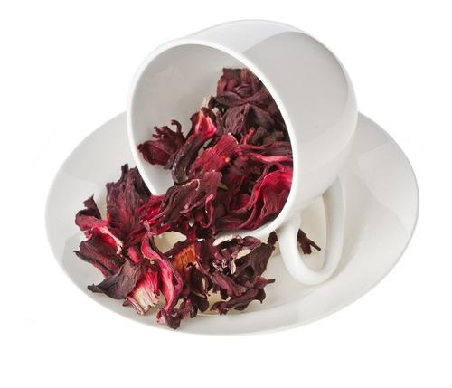 Imagen 1 de 3 de Hibiscus Flor Entera Desmenuzada Para Te X 1 Kg