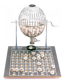 Bingo N°2 Globo (25cm) C/75 Bolas + Brinde 400 Cartelas Free