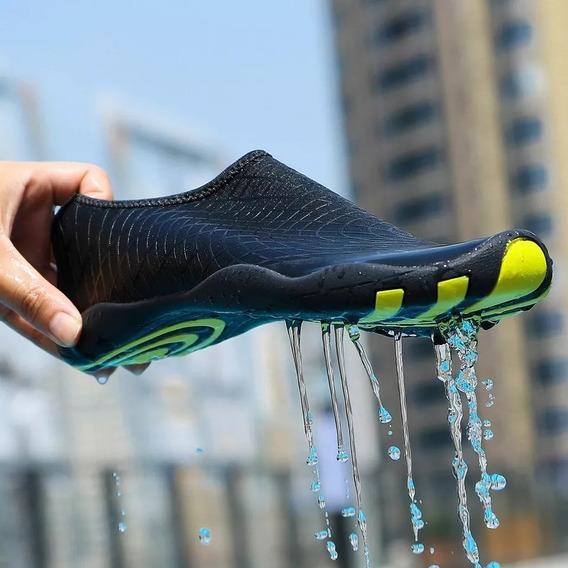 Sapatilha Híbrida, Sapato De Água, Prata De Esporte