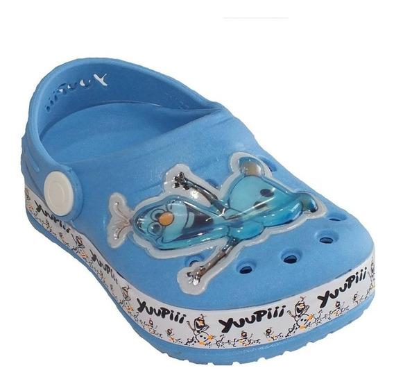 Babuche Olaf Frozen Yuupiii Unissex Azul Claro