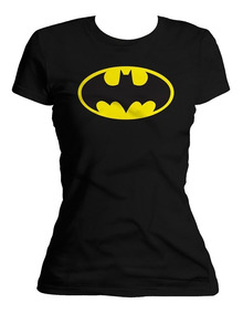 Xperma Playera Dama Escudo Batman