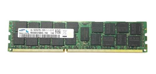 Imagem 1 de 10 de Memoria Samsung Servidor 16gb 2rx4- 12800r  M393b2g70qh0-yk0