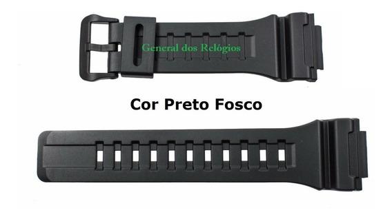 Pulseira P/ Casio W-735h-1v Borracha Aq-s810w-1 Preta W-735h