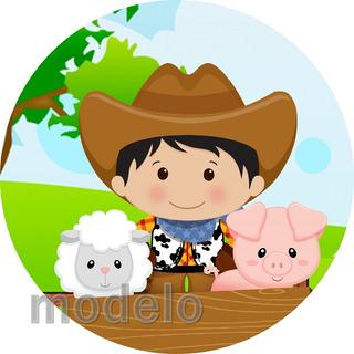 Kit Festa Infantil Personalizado 195 Adesivo Fazendinha 2