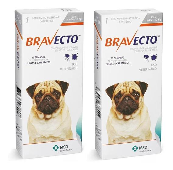 Combo 2 Bravecto 4,5 A 10 Kg Original Nota Fiscal
