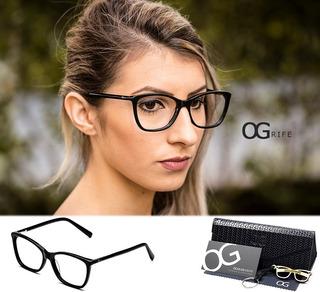 Armação Oculos Ogrife Og 530-c Feminino Com Lente Sem Grau