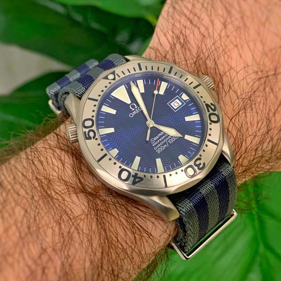 Relógio Omega Seamaster 300m Titanium + Pulseira Omega Nato