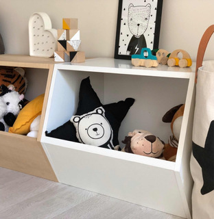 Baúl Guarda Juguetes Cajón Apilable Montessori