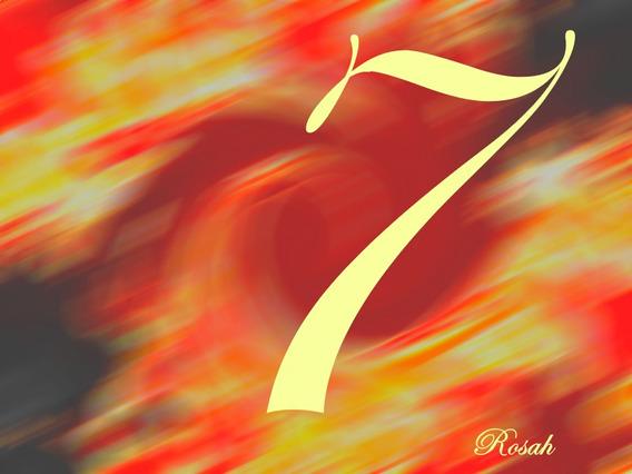 Sete, Poder Do Número, Sorte, Numerologia, Quadro 7, Sucesso