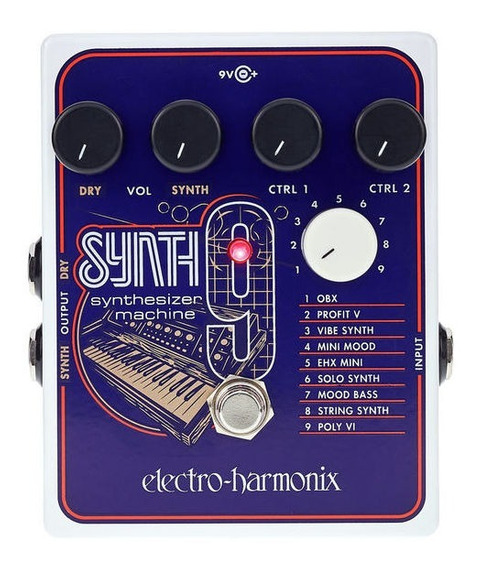 Pedal Ehx Synth9 Synthesizer Machine Electro Harmonix