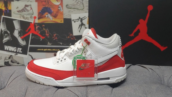 Retro 3 Tinker White University Red