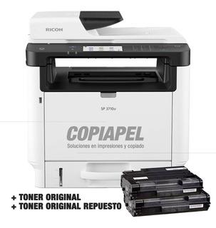 Impresoras Multifunción Laser Ricoh Sp3710 2toner Originales