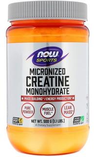 Creatina Monoidratada Now Foods 500 G Pronta Entrega Em Pó