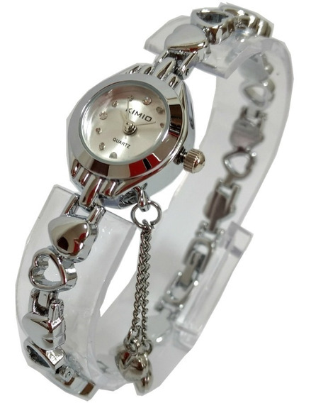 Relógio Feminino Pequeno Prata Aço Inox Pulseira Fina