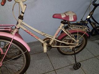 Bicicleta Antiga Caloi Ceci Infantil Com Rodinhas Laterais