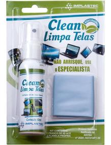 Limpa Telas Com Flanela Clean Incolor Implastec