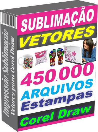 Imagem 1 de 10 de 450.000 Artes Vetor Corel Draw Design Sublimação Impressão