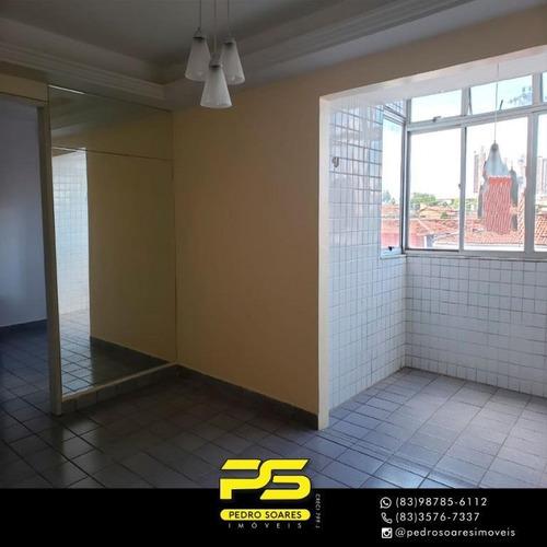 ( Mobiliado ) Apartamento Com 2 Dormitórios Para Alugar, 60 M² Por R$ 1.250/mês - Bairro Dos Estados - João Pessoa/pb - Ap3074