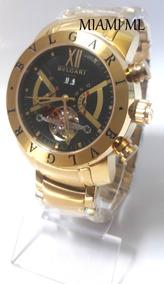 Relogio Bv Preto D65252 Iron Man Dourado Original Dourado