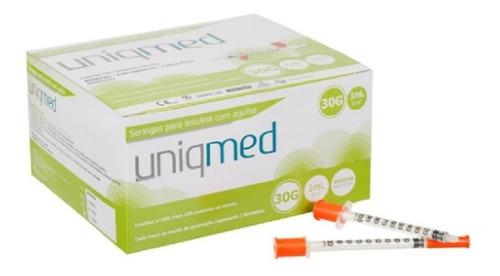 Seringa Insulina 1ml 8mm 30g Caixa Com 100 Unidades Uniqmed
