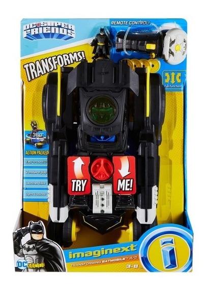 Batimovil Transformable Imaginext Radio Control Con Batman